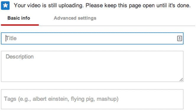 YouTube - Uploading